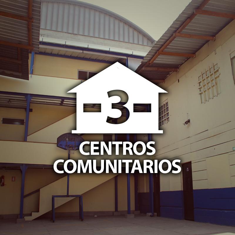 3 centros comunitarios